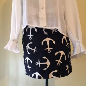 J. Crew Nautical Anchor Skirt